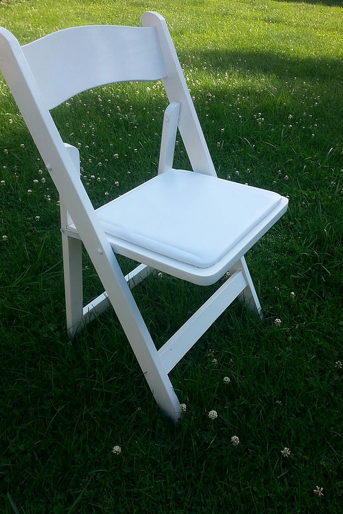 White Folding Padded Chair