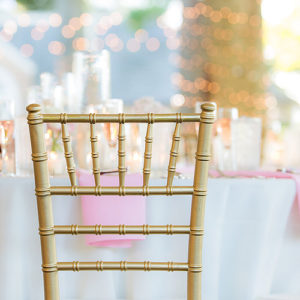 Image of Gold Chair at Wedding