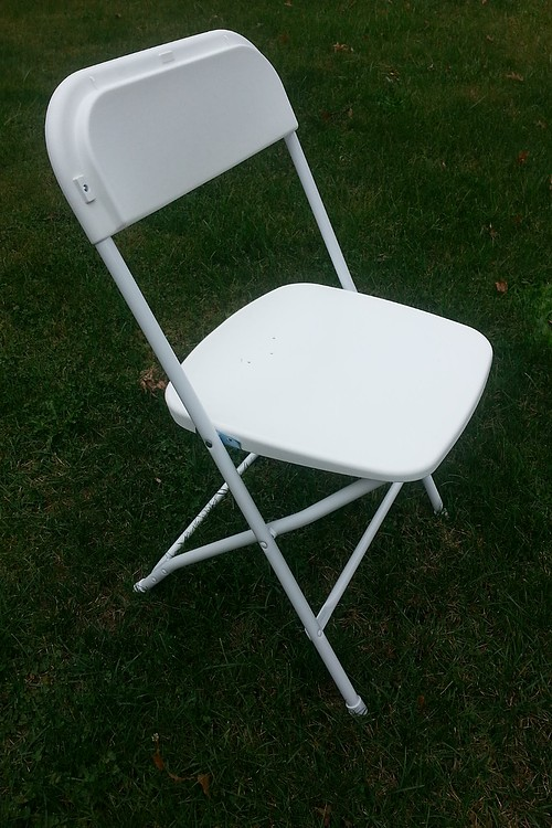 white poly chair