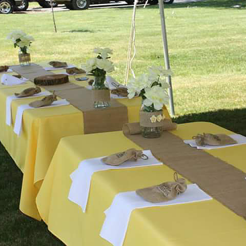 Image of Yellow Table Linens