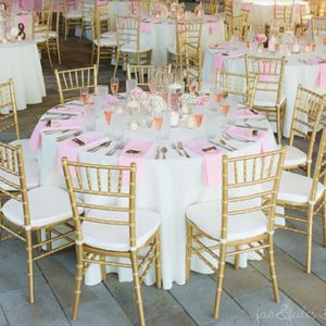 Image of Round Table and Floor Length Linen