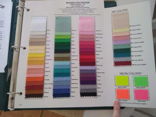 Image of Tablecloth Color Chart