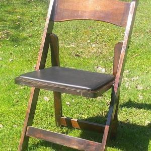 Image of Mahogany Folding Chair
