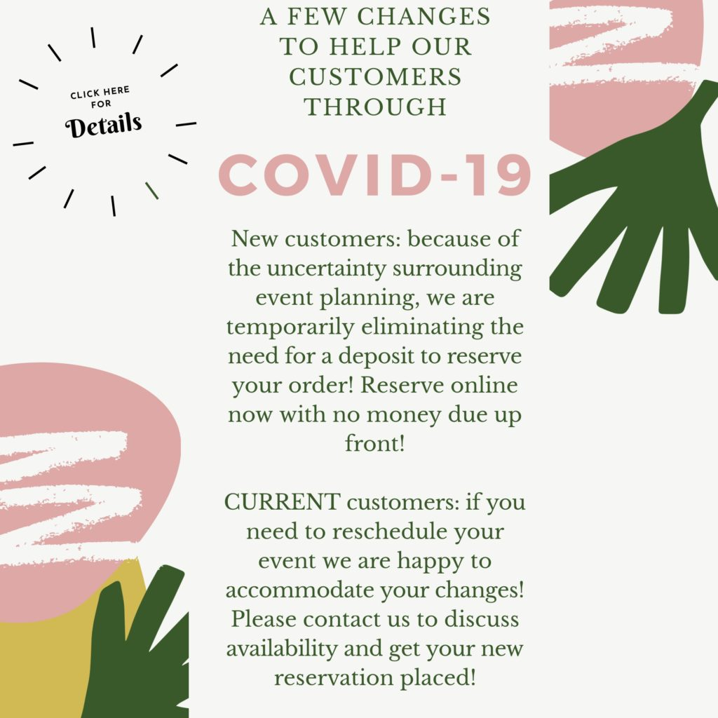 COVID Infographic Party Rental Information