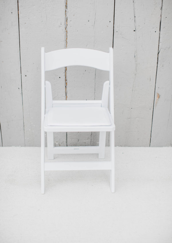 White Folding Padded Chair Rentals