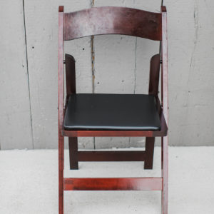 Mahogany Folding Chair Rentals