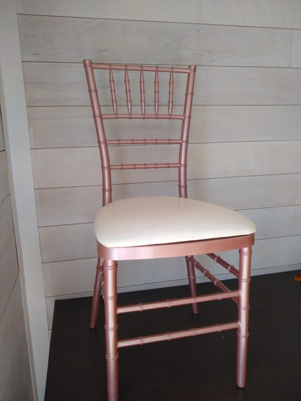 Rose Gold Chiavari Chair Rental
