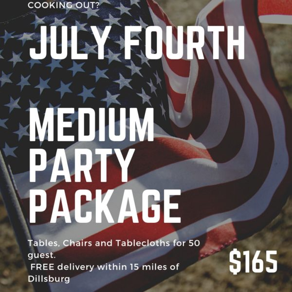 Image of Medium July 4 Party Packate