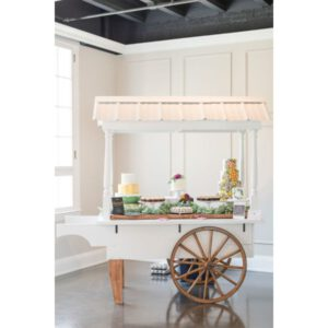 Image of White Cart with Roof Rental