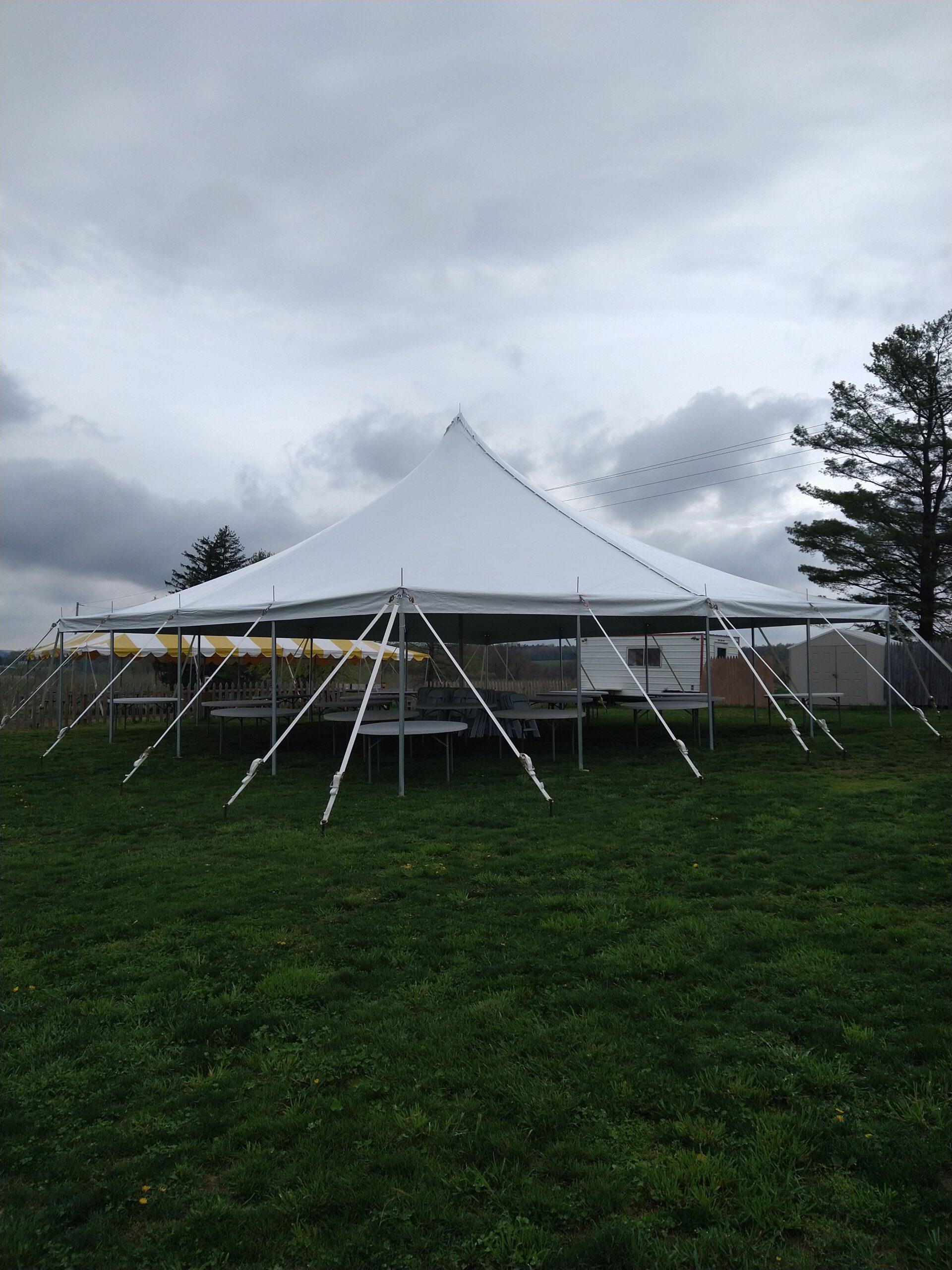 Image of 40x40 Pole Tent Rental