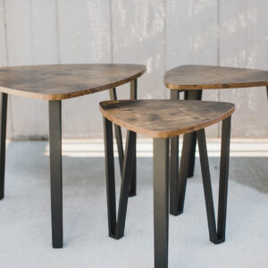 Image of Tri Wooden Side Tables