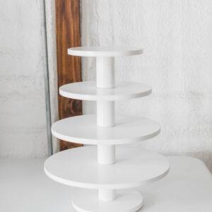 Image of White Cupcake Stand Rental