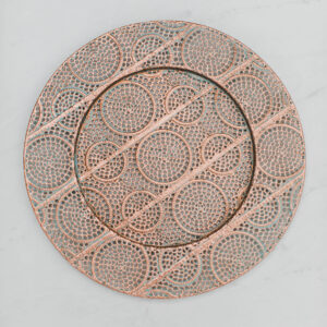Image of Copper Charger Plate Rental