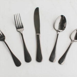 Image of Black Metallic Flatware Rental