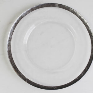 Image of silver rim charger plate