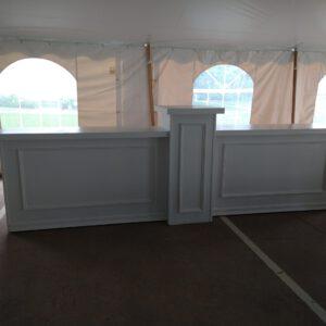 Image of white bar rental